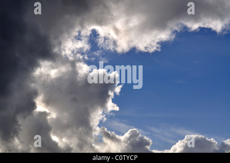 Storm Clouds with blue sky - Stock Image