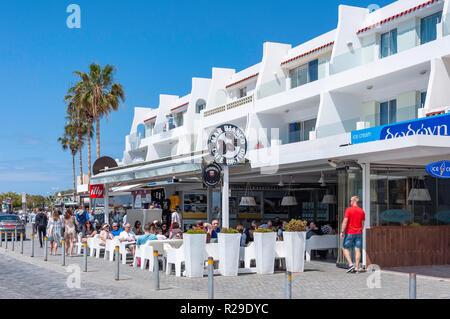 Mar Bianco Cafe Bistro, Poseidonos Avenue, Paphos (Pafos), Pafos District, Republic of Cyprus - Stock Image