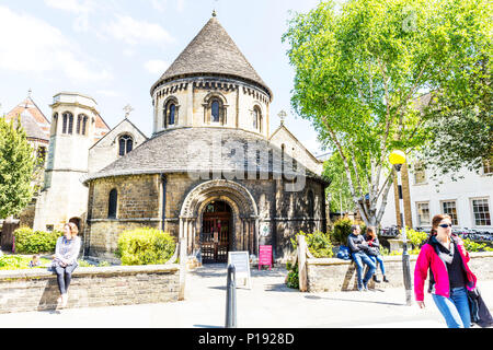 The Church of the Holy Sepulchre Cambridge, The Round Church Cambridge, Holy Sepulchre Cambridge, Holy Sepulchre, Cambridge, round church Cambridge, - Stock Image