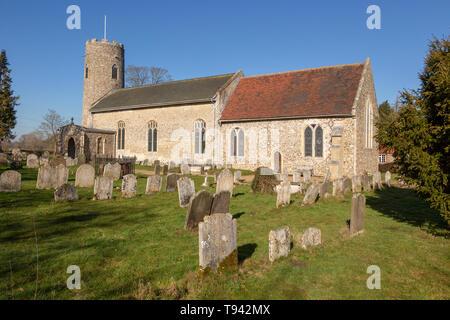 Church of Saint Andrew, Wissett, Suffolk, England, UK - Stock Image