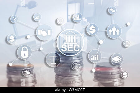 Security Exchange Committee SEC. Independent agency of the United States federal government - Stock Image