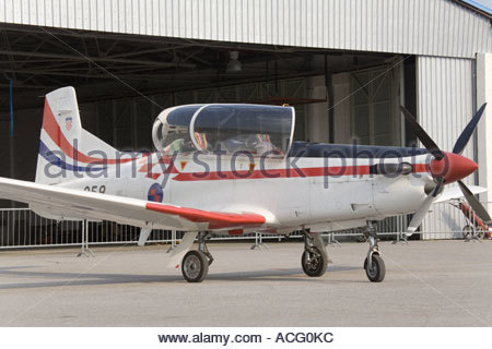 Croatian Air Force Pilatus PC-9 trainer aircraft - Stock Image