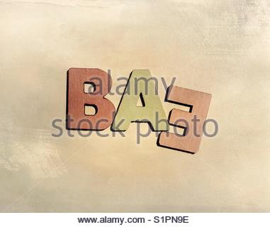 baE (word) - Stock Image