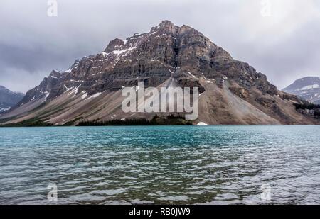 Bow Lake, Banff National Park. - Stock Image