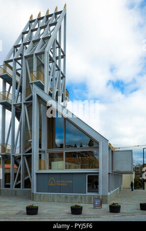 The Auckland Tower part of the Auckland regeneration project houses a museum and provides high level observation platforms to view work in progress - Stock Image