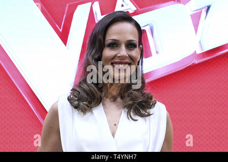 Eva Gonzalez attends 'La Voz' direct presentation at Atresmedia Studios in Madrid, Spain  Featuring: Eva Gonzalez Where: Madrid, Spain When: 19 Mar 2019 Credit: Oscar Gonzalez/WENN.com - Stock Image