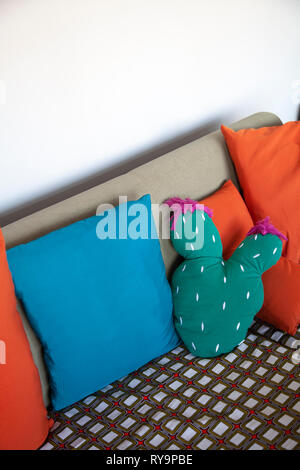 Cushions on Couch - Stock Image