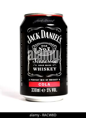 Jack Daniels Whiskey and cola 330ml - Stock Image