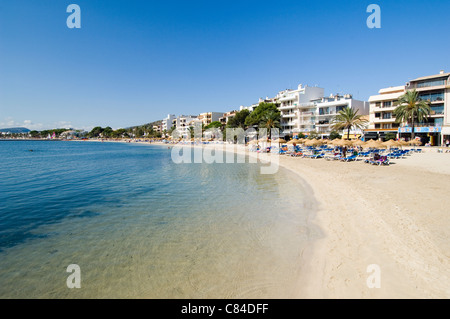 Mallorca, Port de Pollenca, beach - Stock Image