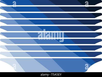 Plate stack icon. Flat color design. Vector illustration. - Stock Image