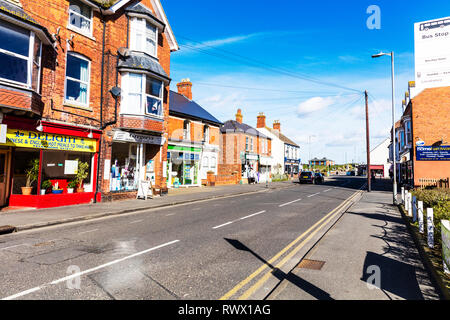 Sutton on Sea Lincolnshire UK England, Sutton on sea village centre, Sutton-on-Sea village centre, Lincolnshire villages, village, Sutton on sea, UK - Stock Image