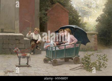 Charles Bertrand d'Entraygues Das kleine Zugpferd 1888 - Stock Image