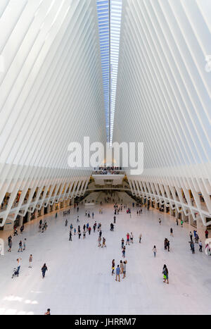 Path Station in Downtown Manhattan - Stock Image