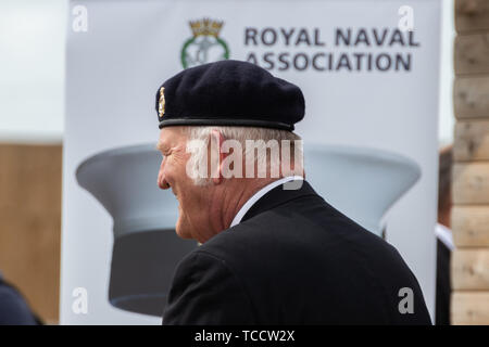 An armed forces veteran wearing his beret - Stock Image