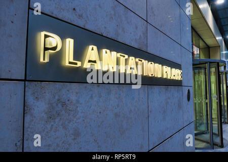 Plantation House, City of London, UK - Stock Image