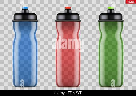 Mock-up Plastic Sport Nutrition Drink Bottle. - Stock Image