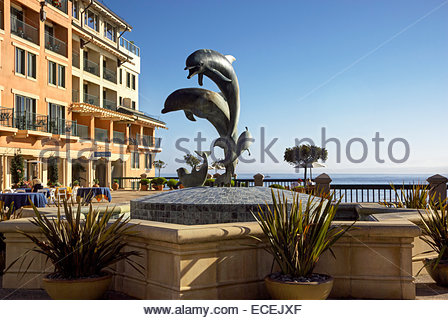 Monterey Plaza Hotel & Spa, Schooners Restaurant, Vista Blue Spa, 400 Cannery Row, Monterey California - Stock Image