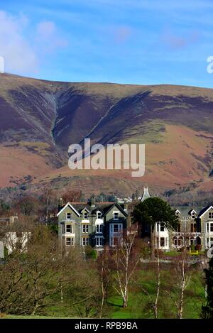 Houses and properties in Keswick,Lake District,Cumbria, England,UK - Stock Image