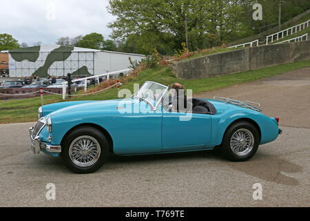 MG MGA, British Marques Day, 28 April 2019, Brooklands Museum, Weybridge, Surrey, England, Great Britain, UK, Europe - Stock Image