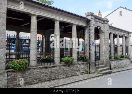 Butter Market Hay-on-wye  Powys Brecon Beacons National Park Wales - Stock Image