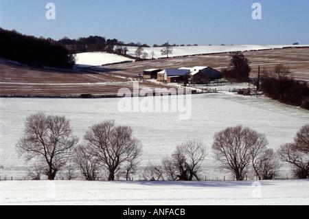Chilterns Landscape, Hertfordshire - Stock Image