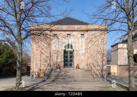 Unitarernes Hus (House of the Unitarians), Dag Hammarskjölds Allé, Copenhagen, Denmark - Stock Image
