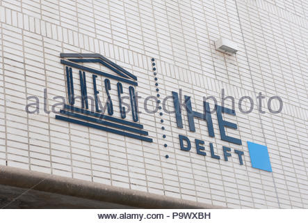 Delft The Netherlands IHE Delft Institute for Water Education (Previously UNESCO Delft) - Stock Image