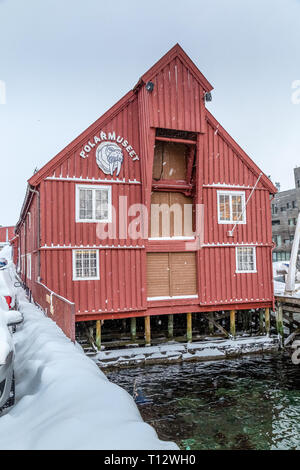 The Polar Museum Polarmuseet, in the town of Tromso in Norway. - Stock Image