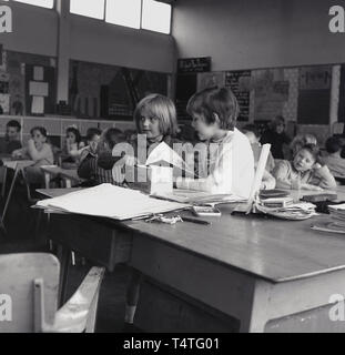 1960s, historical, young children in primary school classroom, England, UK. - Stock Image