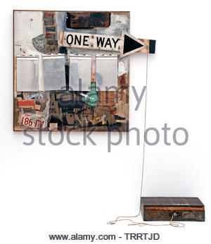 One Way by Robert Rauschenberg 1925 American, United States of America, USA, - Stock Image