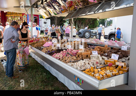 A food stall selling confections at the 2018 Cheshire Steam Fair - Stock Image