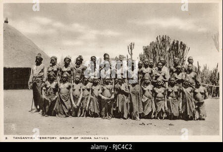 Tanganyika (Tanzania) - East Africa - Group of Ikoma People - an ethnic and linguistic group based in Mara Region in northern Tanzania. - Stock Image