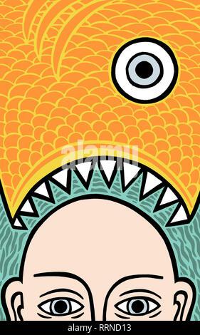 Fish dinner - Stock Image