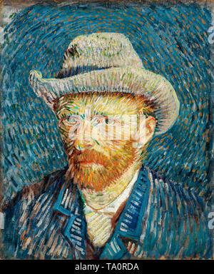 Vincent van Gogh, Self-Portrait with Grey Felt Hat, 1887 - Stock Image