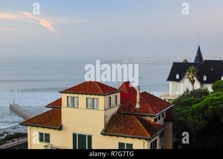 Estoril Cascais seafront Portugal - Stock Image