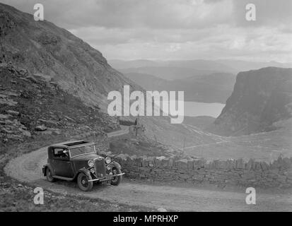 Crossley of Miss VJM Stephenson competing in the RSAC Scottish Rally, 1936 Artist: Bill Brunell. - Stock Image