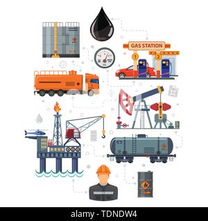 Oil Industry Infographics - Stock Image