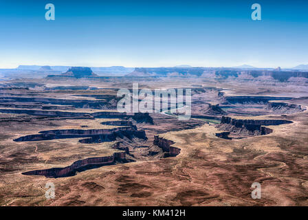 Canyonlands National Park, Utah, USA. The Island in the sky formed by the erosion of the Colorado River - Stock Image
