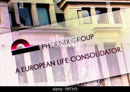 The Phoenix Group, The Phoenix Group insurance services, Phoenix Group, Phoenix Group website, Phoenix Group homepage, Phoenix Group UK, Phoenix Group - Stock Image