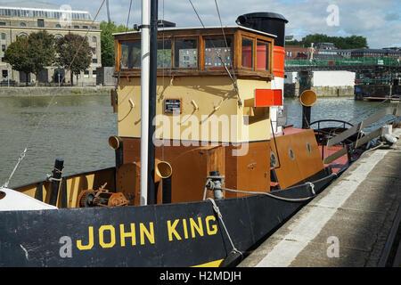 Bristol Museums 1935 Diesel Tug King John -1 - Stock Image