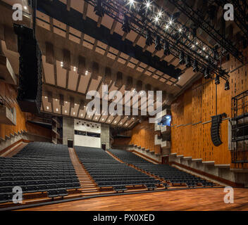 The restored Purcell Room at the Queen Elizabeth Hall, Southbank Centre, London, UK. - Stock Image