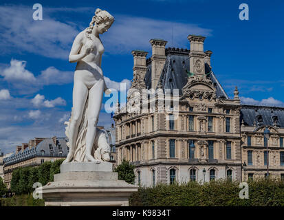 Muse Tuilleries Garden Louvre Paris - Stock Image