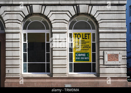 Offices for let in Liverpool City Centre - Stock Image