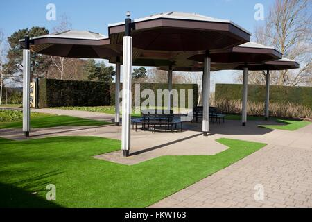 Astro Turf in the gardens at  Royal Horticultural Society. Wisley - Stock Image