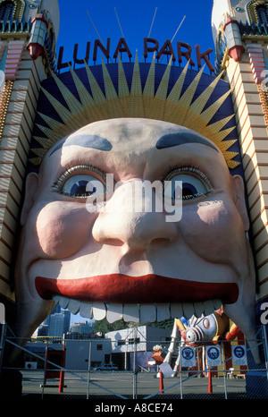Australia New South Wales Sydney Luna Park - Stock Image