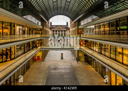 Mall of Berlin shopping center at Leipziger Platz, The Mall of Berlin is Berlin's largest retail shopping mall. It is situated close to  the German Bund - Stock Image