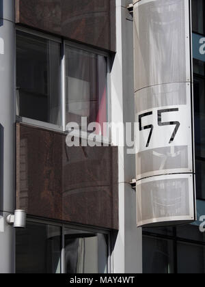 London, England, UK. 5th April 2018.  Offices housing HQ of Cambridge Analytica.  Cambridge Analytica may have harvested 37m aditional Facebook users' data, including 1m UK user data, according to a blog post by the Facebook chief technology officer, Mike Schroepfer. Credit: Alan Gallery/Alamy Live News - Stock Image
