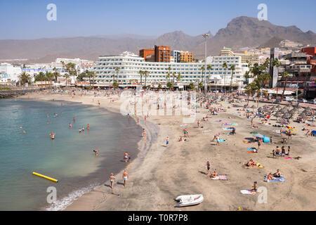 The Playa de Torviscas in Costa Adeje, Tenerife, Canary Islands. - Stock Image