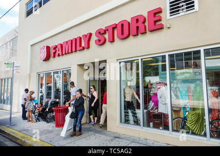 Miami Florida Salvation Army Family Store used clothing furniture household second-hand items for sale donated donations low income shopping - Stock Image