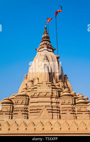 Shiva Temple is located at the Ganges river in Varanasi city, Uttar Pradesh state, North India - Stock Image